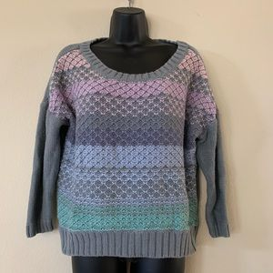 American Eagle Outfitters Pastel Rainbow Sweater